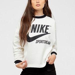 Nike Sportswear Archive Crewneck Sweater in Cream